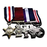 Military Medals 5x Group Set Victoria Cross , Military Medal, Military Cross, France and Germany Star & George Cross Replica, awards medals & army medals (Color: silver)