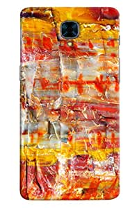 Omnam Colorful Wax Printed Designer Back Cover Case For OnePlus Three