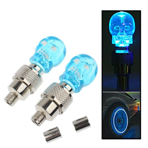 Manufacturing unit Direct Sale A Pair of Cranium Flashing LED Valve Cap Gentle Wheel Tyre Lamp Bulb For Automotive Automobile Auto Vans Motorbike Motorcycle