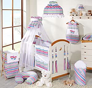Amazon.com : Pastel Stripes Bedding 11 Piece Set : Baby