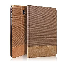 GoldCherry Samsung Galaxy Tab S2 9.7 folio Case - , Kickstand ,Card Pocket Folio Leather Case Cover for Galaxy Tab S2 Tablet 9.7 inch, SM-T810 T815 (Galaxy Tab S2 9.7 (T810) , Brown)