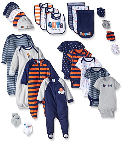Gerber Boys' 26 Piece Seriously Cute Gift Set, Sports, Newborn