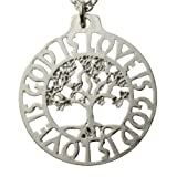 God Is Love Is God Tree of Life Silver-dipped Pendant Necklace on 18