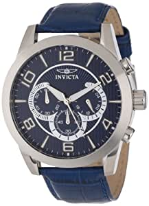Invicta Men's 13633 Specialty Chronograph Blue Textured Dial Blue Leather Watch