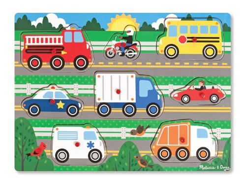 Melissa & Doug Vehicles Peg Puzzle - 1