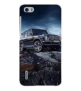 Marvellous Car 3D Hard Polycarbonate Designer Back Case Cover for Huawei Honor 6