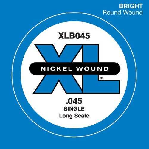 D'Addario XLB045 Nickel Wound Bass Guitar Single String, Long Scale, .045