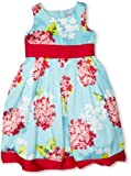 Pumpkin Patch Hydrangea Satin Girl'S Dress