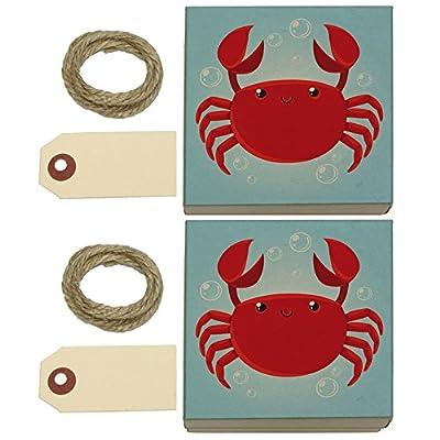 Cute Crab Kraft Gift Boxes Set of 2