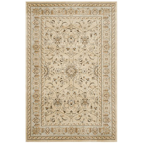 Safavieh Florenteen Collection FLR127-1280 Ivory and Grey Area Rug, 4 feet by 6 feet (4' x 6')