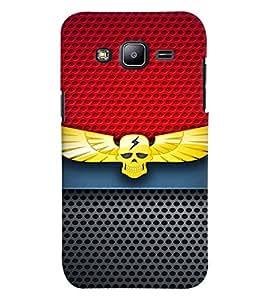 Fuson Premium Danger Printed Hard Plastic Back Case Cover for Samsubg Galaxy J2