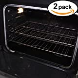 "Stately Kitchen's Extra Durable Large Non Stick Teflon Oven Liners, Pan Liners and Cookie Sheets 17"" x 25"" 2 Pack"