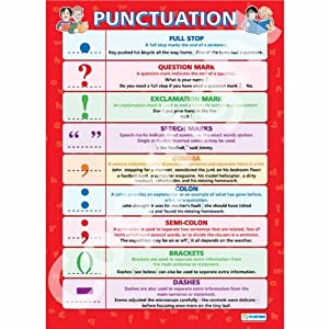 Punctuation  English Language Educational Wall Chart/Poster in high gloss paper (A1 840mm x 584mm)