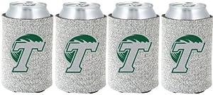 Buy NCAA Tulane Green Wave Glitter Can Koosie (Pack of 4) by Kolder