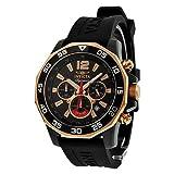 Invicta Signature II Chronograph Nautical Black Dial Black Rubber Mens Watch 7435