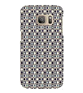 iFasho Colour Full Square Pattern Back Case Cover for Samsung Galaxy S7