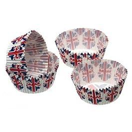 Kitchen Craft - Capsulas Cupcake Bandera, 60 Unids