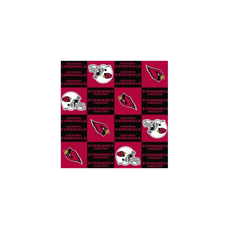 NFL Arizona Cardinals Licensed Fleece 58 Inch Wide Fabric By the Yard (F.E.®)  Other Products