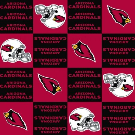 NFL Arizona Cardinals Licensed Fleece 58 Inch Wide Fabric By the Yard (F.E.®) at Amazon.com
