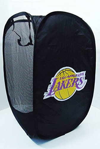 Los Angeles Lakers Pop Up Hamper Mesh Laundry Basket New NBA 24