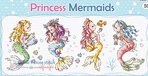 Princess Mermaids cross stitch kit SO-G107 sodastitch (Soda Cross compare prices)
