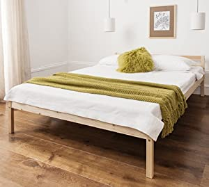 Double Bed Pine 4'6 Double Bed Wooden Frame Sussex