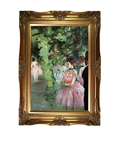"Edgar Degas ""Dancers Backstage, 1872"" Framed Oil Reproduction"