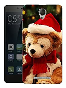 """Christmas Teddy Bear Printed Designer Mobile Back Cover For """"Xiaomi Redmi 3S"""" By Humor Gang (3D, Matte Finish, Premium Quality, Protective Snap On Slim Hard Phone Case, Multi Color)"""