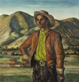 High Quality Polyster Canvas ,the Reproductions Art Decorative Prints On Canvas Of Oil Painting 'Peter Hurd,Jose Herrera,1938', 10x10 Inch / 25x26 Cm Is Best For Home Office Artwork And Home Decor And Gifts
