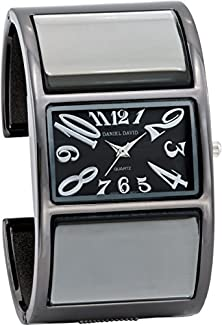 buy Daniel David Women'S | Large Gunmetal Fashion Bangle Watch | Ha0470