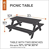 Classic Accessories Atrium Picnic Table Cover - Durable Outdoor Furniture Cover with Fade and Stain Resistant Fabric, Green (55-441-011101-11)
