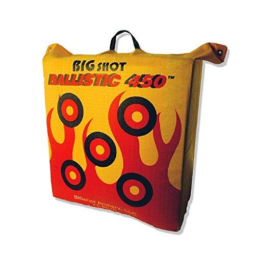 BIGshot Archery Ballistic 450 X Bag Target, 24 x 24 x 12″/42 lb., Yellow