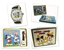 FOSSIL MICKEY & MINNIE MOUSE LTD. EDITION WATCH WITH COLLECTABLE PUZZLE