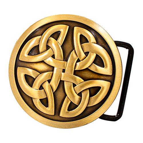 Buckle Rage Adult Mens Celtic Cross Knot Mystic Circle Gothic Belt Buckle Bronze
