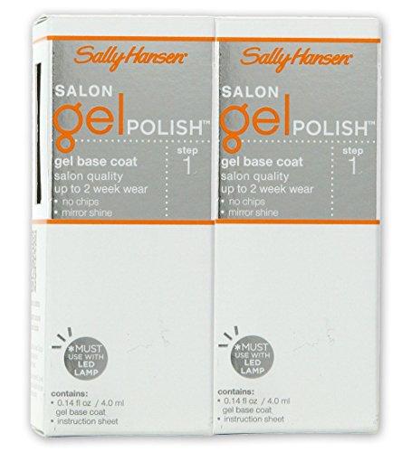 Sally Hansen Salon Gel Polish #01 Gel Base Coat- Set Of 2