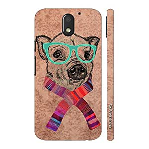 Enthopia Designer Hardshell Case Geeky Dog Back Cover for Motorola Moto E3 Power