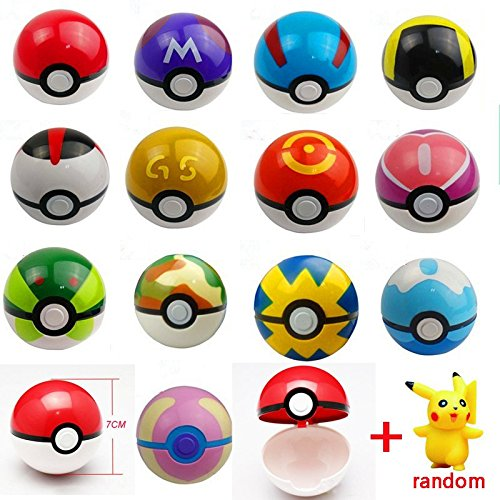 13Styles 1Pcs Pokeball + 1pcs Free Random Pokemon