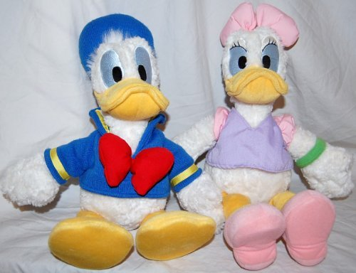 Disney Set of 2 Donald Duck & Daisy Duck Plush Toys - 1