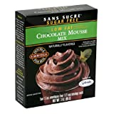 Sans Sucre Sugar-Free Low-Fat Chocolate Mousse Mix, 3-Ounce Packages (Pack of 12)