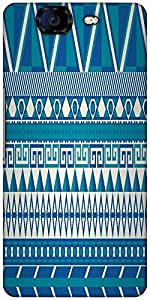Snoogg Aztec Pattern Triangular Designer Protective Back Case Cover For Micromax Canvas Knight A350