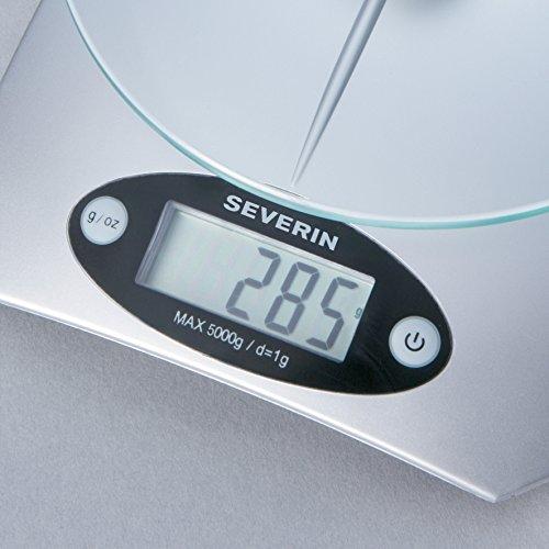 Severin - 3667 - Balance de Cuisine é‰lectronique - Max 5 Kg - argent