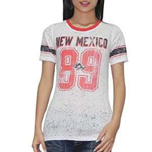 NCAA New Mexico Lobos Ladies Crew-Neck T-Shirt (Vintage Look) by NCAA