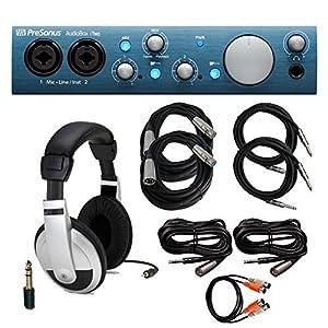 PreSonus AudioBox iTwo Audio Interface with Headphones & Cables Bundle