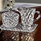 Fifth Avenue Crystal Muirfield Sugar and Creamer Set with Tray