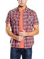 Lee Camisa Hombre Western Ss Lava (Rojo / Azul)