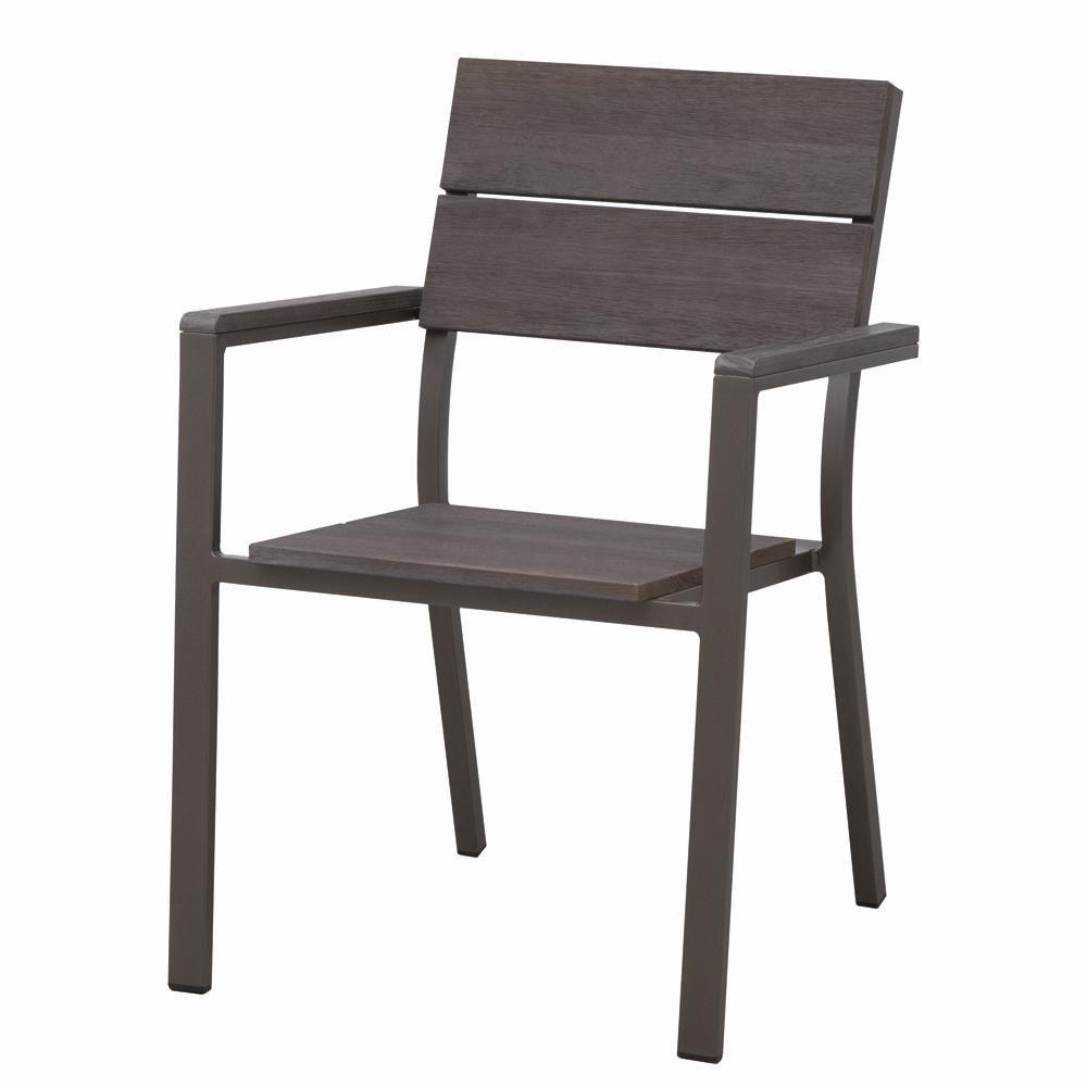 Siena Garden 120155 Stapelsessel Minton Aluminium-Gestell bronze Leisten Eukalyptus FSC® 100%