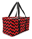 RED and BLK Chevron Print Utility Tote