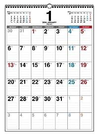 2014年 書き込み式 月曜始まり シンプルカレンダー B3タテ ([カレンダー])