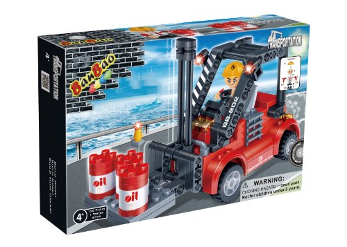 BanBao Forklift Truck Toy Building Set, 128-Piece - 1