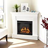 Chateau Corner Electric Fireplace, White